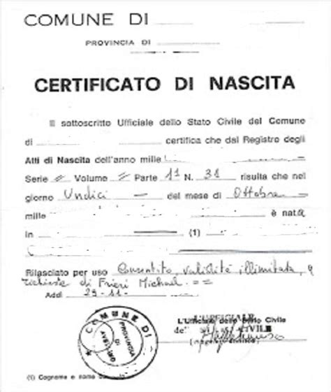 certificato di nascita accertaweb