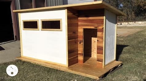 watch dog house build a modern dog house modern builds ep 14 youtube