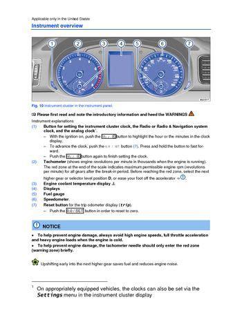 download car manuals 1996 volkswagen passat instrument cluster download 2013 volkswagen passat instrument cluster pdf manual 6 pages