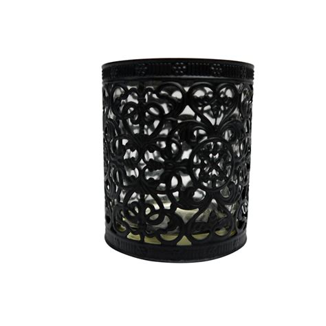 decorative cup candle holder black