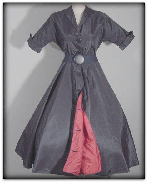 40s swing 40s 50s navy red taffeta swing dress pretty sweet vintage