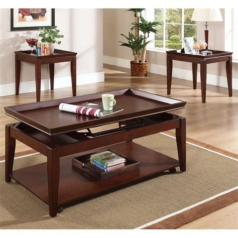 Lift Top Coffee Table Set Steve Silver Company Clemens 3 Pc Lift Top Casters Cocktail Coffee Table Set Ebay