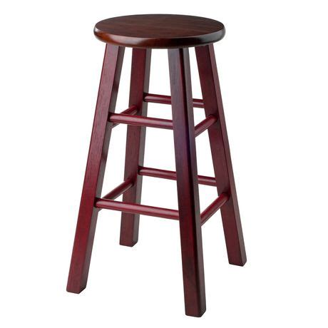 maroon colored stool 24 quot counter stool rustic maroon w walnut seat