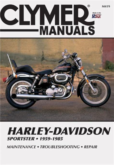 Harley Davidson Sportster Service Manual by Harley Davidson Sportster Motorcycle 1959 1985 Service