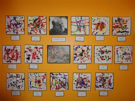 themes for gallery shows jackson pollock for preschoolers pollock inspired art