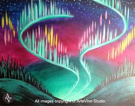 paint nite vaudreuil 78 best images about acrylic ideas northern lights on