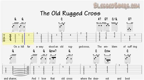 rugged cross tab gitar tabs rugged cross