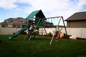 lifetime a frame swing set lifetime a frame playground playset clubhouse swing set ebay