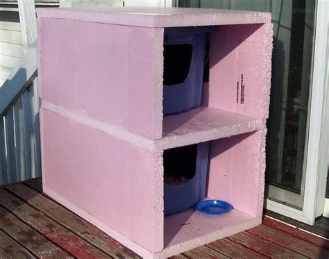 Insulated Cat House by Build Outdoor Cat House Winter 187 Woodworktips