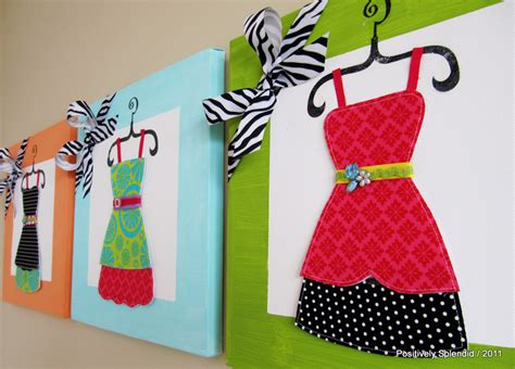 dress  wall canvas tutorial positively splendid