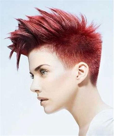 redhead women with spiked mohawk 2016 short hair color trends the best short hairstyles