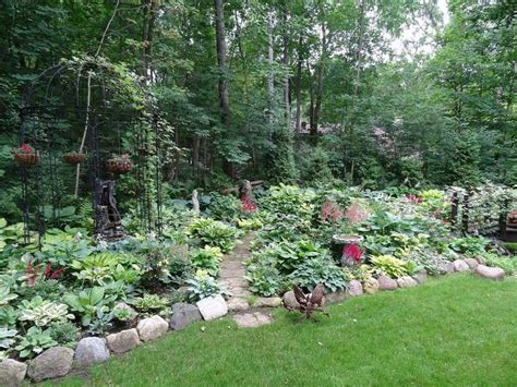 Rock Gardens Green Bay An Early July Backyard Shade Garden Walk In Green Bay Wi Hometalk
