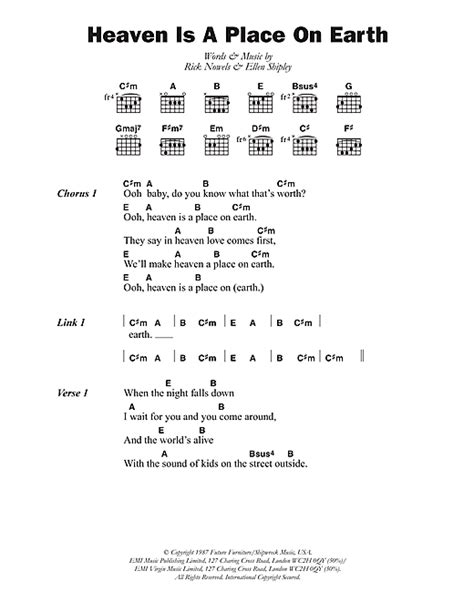 A Place Chords Heaven Is A Place On Earth Sheet By Belinda Carlisle Lyrics Chords 102653