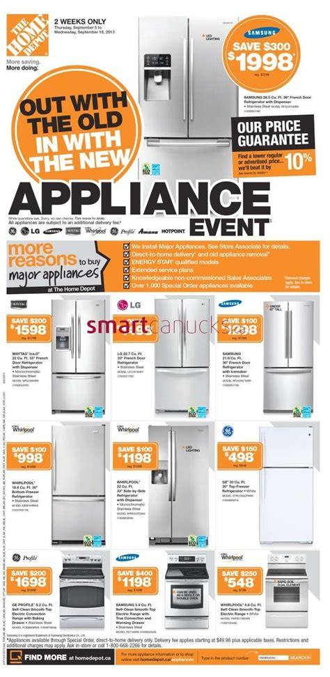 home depot flyer september 5 to 11