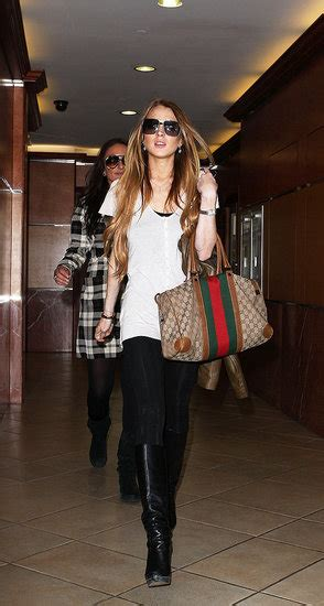 Lindsay Lohans Gucci Bag by And Their Gucci Photo Only Page 52
