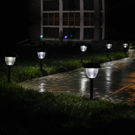 solar lights for backyard lights outdoor landscape willowbrook gunmetal