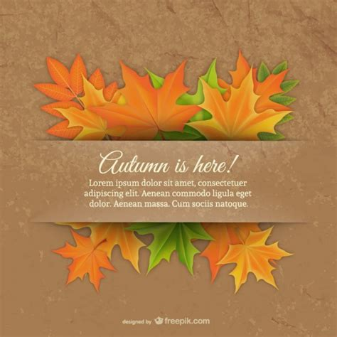 Template With Fall Leaves Vector Free Download Free Fall Templates