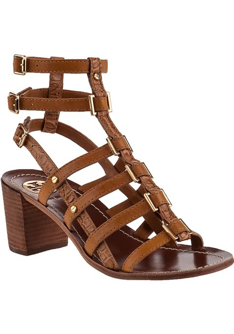 burch gladiator sandals burch reggie gladiator sandal leather in brown lyst