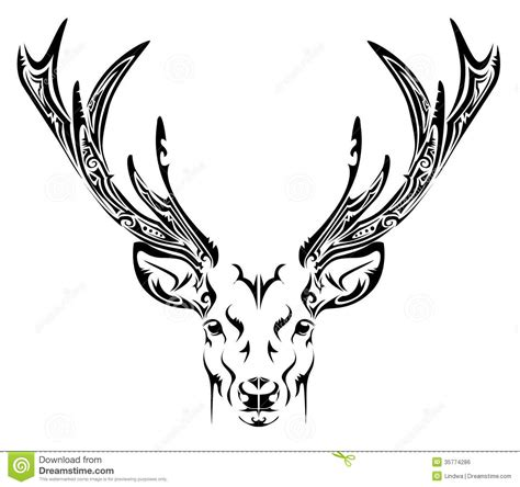 tribal deer head tattoos deer tribal tattoosugg stovle