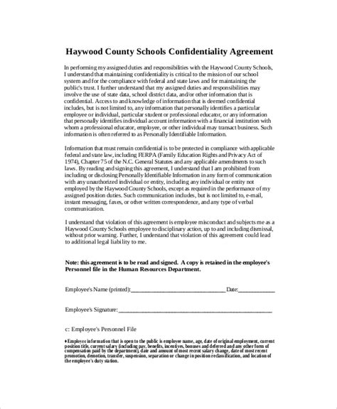10 Human Resources Confidentiality Agreement Templates Free Sle Exle Format Download Employee Confidentiality Agreement Template