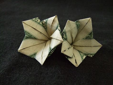 Dollar Bill Flower Origami - money origami flowers 171 embroidery origami