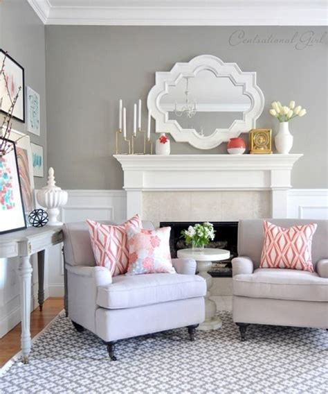 Coral And Gray Living Room coral gray living room decora 231 227 o