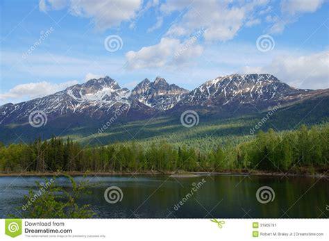 design graphics palmer alaska alaska mountains and lake palmer hays flats stock image