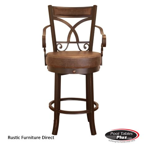 rustic bar stools swivel rustic swivel d94 barstool