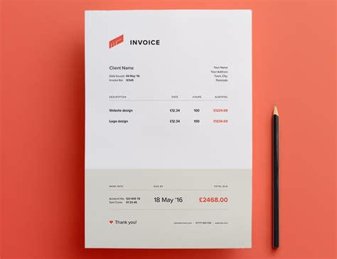 creative invoices designed  leave  good impression  clients