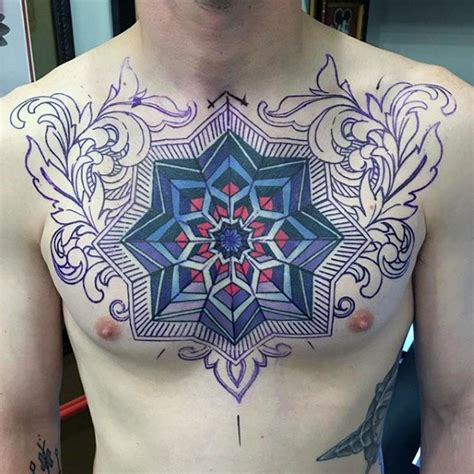 geometric chest tattoos 100 optical illusion tattoos for eye deceiving designs