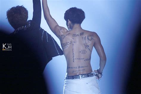 jonghyun fansite tattoo news jonghyun transforms fansite names into body tattoos
