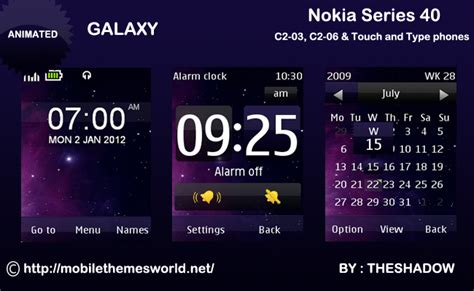themes nokia c2 slide download galaxy theme for nokia c2 03 c2 06 x3 02