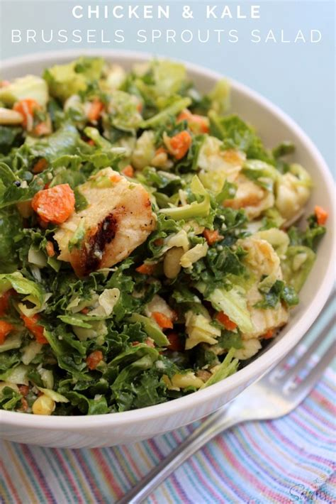 Detox Chicken Salad Recipe by Chicken Kale Brussels Sprouts Salad The Daily