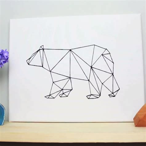 geometric pattern diy diy geometric bear art handmade diy pinterest