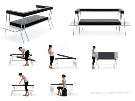 desk that turns into a bed italian multifunctional furniture living in a shoebox