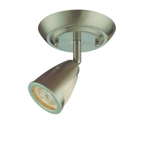 hton bay 1 light brushed steel ceiling light fixture