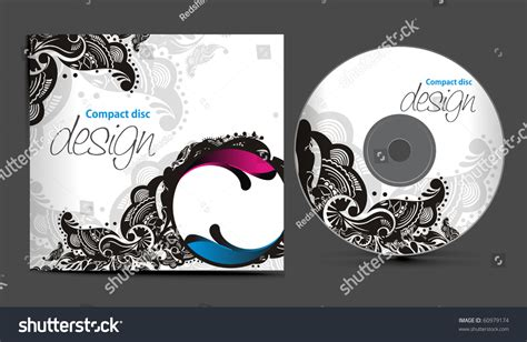 cd cover design vector vector cd cover design template copy stock vector 60979174