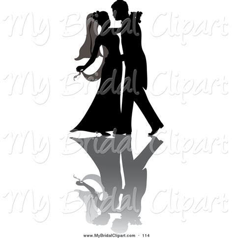 Wedding Shadow Images bridal clipart of a silhouetted at their