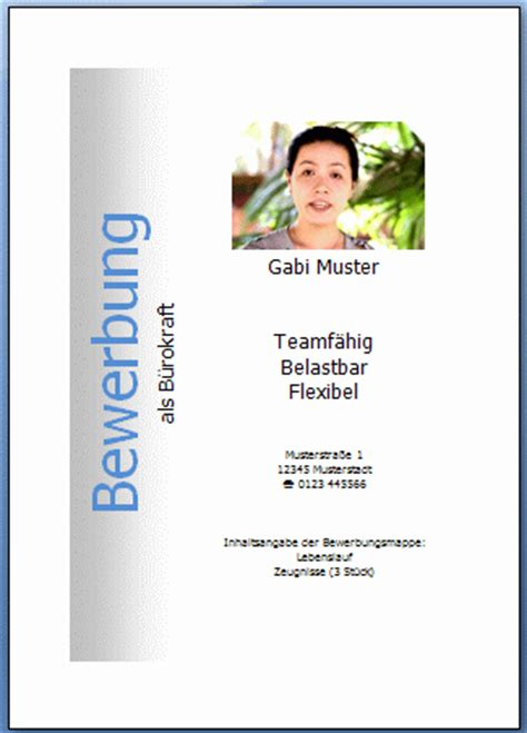 Bewerbung Deckblatt Word 2007 Word 2007 Deckblatt Mit Textfeld
