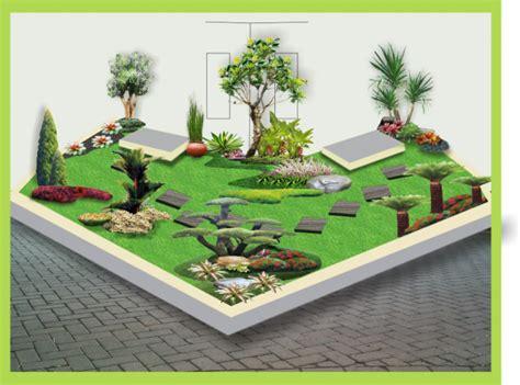 contoh desain gambar taman rumah cahaya mentari