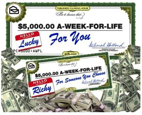 Www Pch Com 5000 Week Life - 5000 a week for life bing images