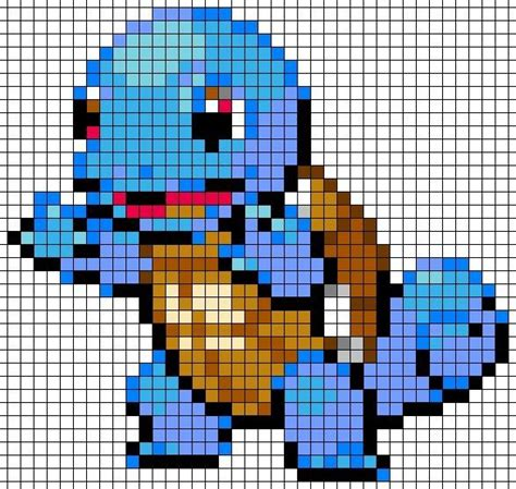 grid pattern drawing crochet pokemon afghan with granny squares for pixel