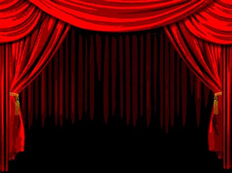 red curtain stage red theater curtains dark brown hairs