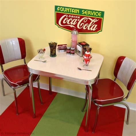 a retro coca cola soda dinette setup