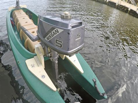 skiff engine wavewalk 700 skiff with 5 hp tohatsu outboard motor and