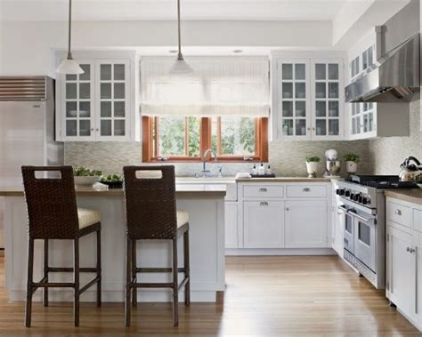 Kitchen Cabinets With White Trim by White Kitchen Cabinets With Stained Trim Dwelling