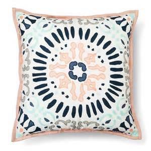 Sofa Pillows Target Medallion Decorative Pillow Square Multicolor Target