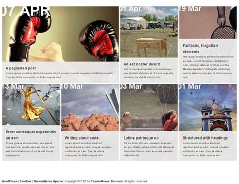 grid layout wordpress theme free collection of free and well designed grid based wordpress