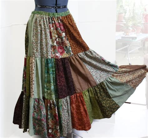 Patchwork Hippie Skirts - patchwork hippie skirt womens skirt festival skirt hippie