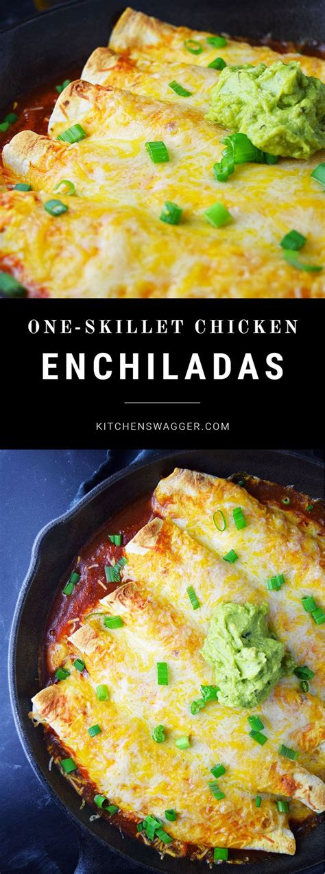 easy chicken enchiladas recipe dishmaps